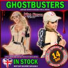 HALLOWEEN FANCY DRESS ~ LADIES SEXY MISS GHOSTBUSTERS DRESS XS 6-8
